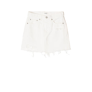 MOUSSY, DENIM, MOUSSY | Ripliy Skirt White 2400 - Edgar Martha's Vineyard