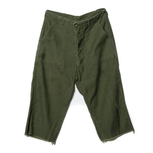 EDGAR mv, BOTTOMS, EDGAR MV | Vintage Collection Army Cargo Cut Off Capris - Edgar Martha's Vineyard
