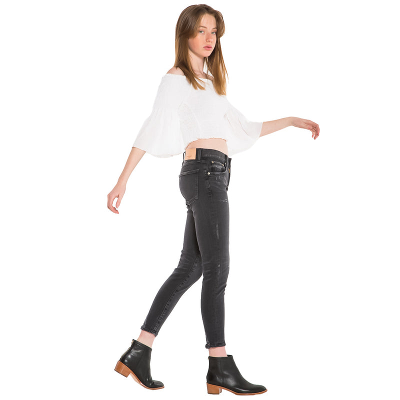 MOUSSY, DENIM, MOUSSY | Velma Skinny Black 1160 - Edgar Martha's Vineyard