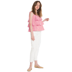 MDS STRIPES, TOP, MDS STRIPES | Tiered Cami - Edgar Martha's Vineyard