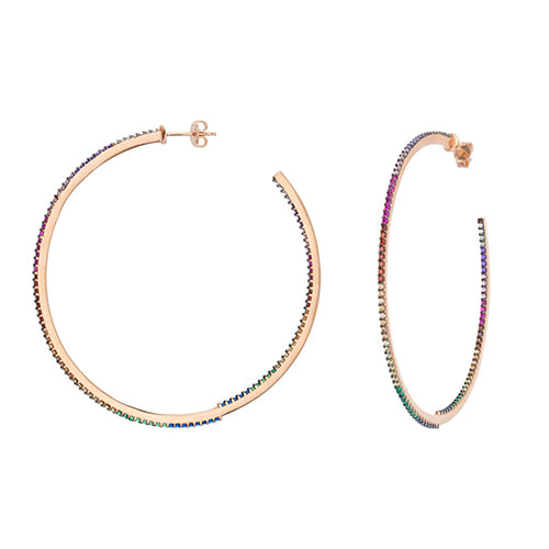 SHASHI, JEWELRY, SHASHI | Bar Pave Hoop - Edgar Martha's Vineyard