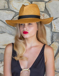 GLADYS TAMEZ MILLINERY, ACCESSORIES, GTM | Jackie O Straw Hat - Edgar Martha's Vineyard