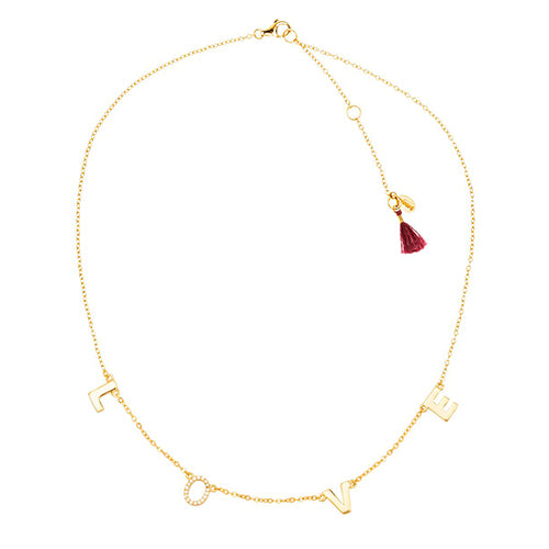 SHASHI, JEWELRY, SHASHI | Love Necklace YG - Edgar Martha's Vineyard