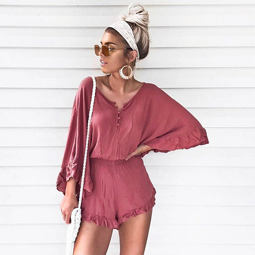L-SPACE, BOTTOMS, L-SPACE | Emily Romper - Edgar Martha's Vineyard
