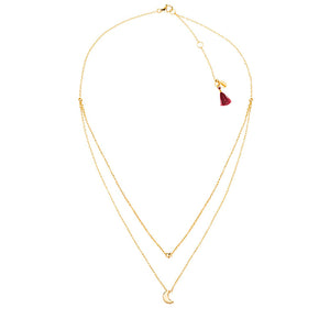 SHASHI, JEWELRY, SHASHI | Luna Lariat Necklace YG - Edgar Martha's Vineyard
