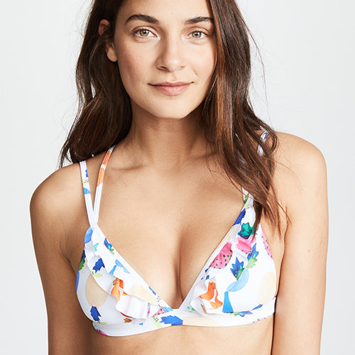 PILY Q, SWIM, PILY Q | Ruffle Tri Top - Edgar Martha's Vineyard