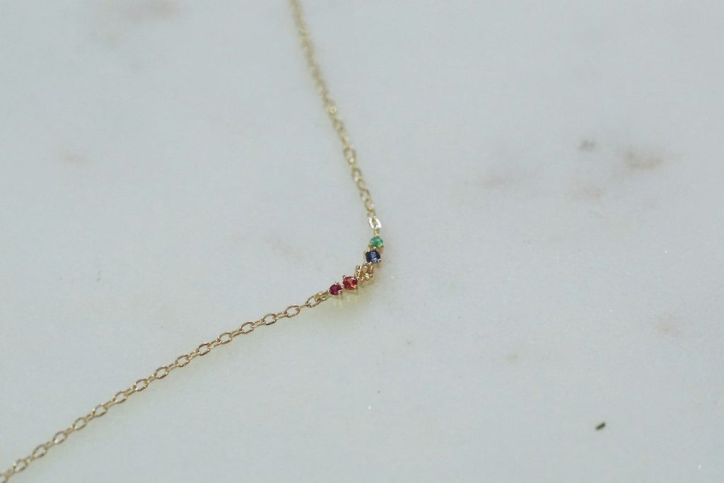 GJENMI, JEWELRY, GJENMI | Rainbow Ballerina Necklace - Edgar Martha's Vineyard