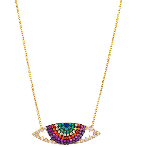 SHASHI, JEWELRY, SHASHI | Rainbow Eye Necklace - Edgar Martha's Vineyard