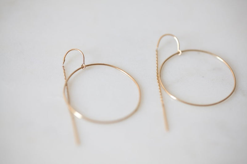 GJENMI, JEWELRY, GJENMI | Ring Of Light Earring - Edgar Martha's Vineyard
