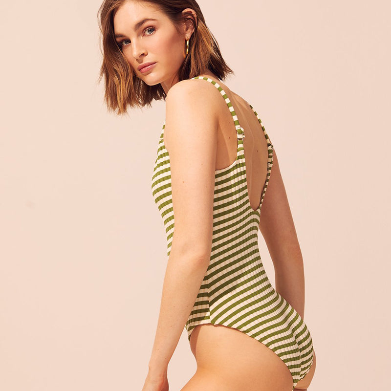 SOLID & STRIPED | The Nina Grass Rib One-Piece