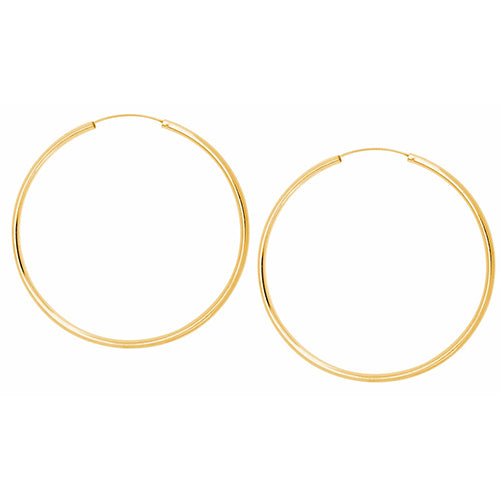 SHASHI, ACCESSORIES, SHASHI | Samantha Hoop Earring Yellow Gold Large - Edgar Martha's Vineyard