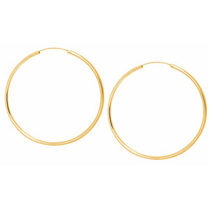 SHASHI, JEWELRY, SHASHI | Samantha Hoop Earring Yellow Gold Large - Edgar Martha's Vineyard