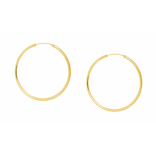 SHASHI, JEWELRY, SHASHI | Samantha Hoop Earring YG SM - Edgar Martha's Vineyard