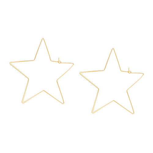 SHASHI, JEWELRY, SHASHI | Star Hoop Earring YG - Edgar Martha's Vineyard
