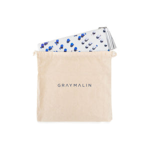 GRAY MALIN, ACCESSORY, GRAY MALIN | The Blue & White Umbrella Leather Pouch - Edgar Martha's Vineyard