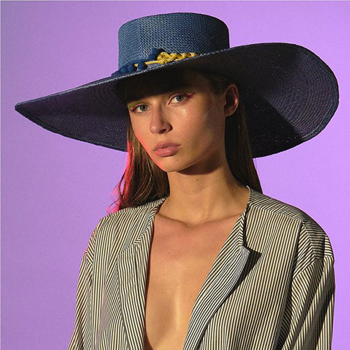 GLADYS TAMEZ MILLINERY, HAT, GTM | Cindy Panama Beach Hat - Edgar Martha's Vineyard