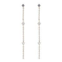 ASHLEY SCHENKEIN, JEWELRY, ASHLEY SCHENKEIN| Portland Triple Gemstone Drop Earrings - Edgar Martha's Vineyard