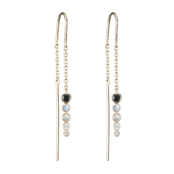 ASHLEY SCHENKEIN, JEWELRY, ASHLEY SCHENKEIN| Jaipur Gemstone Threader Earrings - Edgar Martha's Vineyard