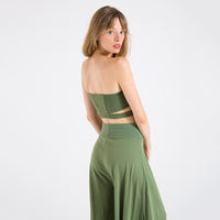EDGAR mv, TOP, EDGARmv | Organic Cotton Olive Spandex Versi Bandeau - Edgar Martha's Vineyard