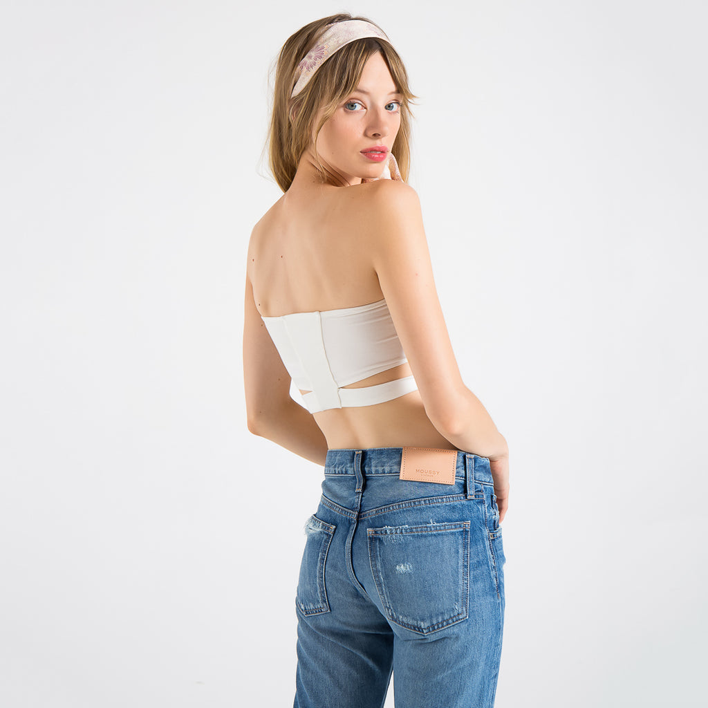 EDGAR mv, TOP, EDGARmv | Organic Cotton Off White Spandex Versi Bandeau - Edgar Martha's Vineyard