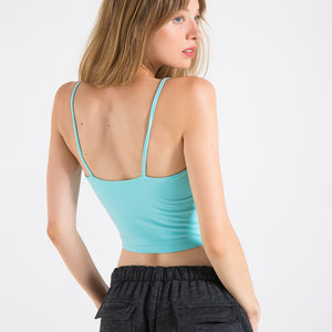 EDGAR mv, TOP, EDGARmv | Organic Cotton Spandex Double Layer Cami Cropped Top - Edgar Martha's Vineyard