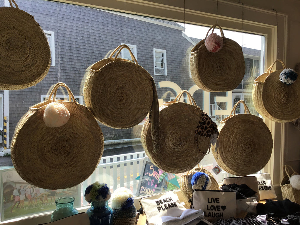 EDGAR mv, ACCESSORIES, EDGAR MV | Round French Market Basket - Edgar Martha's Vineyard