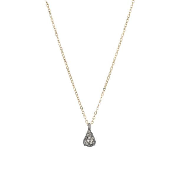 ASHLEY SCHENKEIN, JEWELRY, ASHLEY SCHENKEIN | Brooklyn Small 3-D Teardrop Diamond Necklace - Edgar Martha's Vineyard