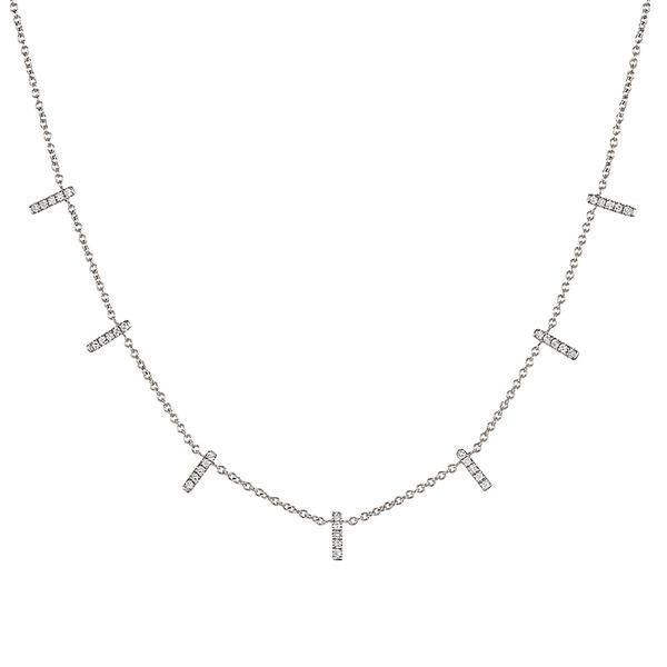 ASHLEY SCHENKEIN, JEWELRY, ASHLEY SCHENKEIN| Diamond Pave Bars Necklace - Edgar Martha's Vineyard