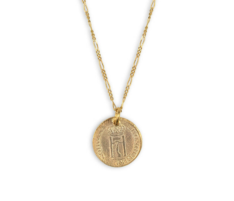 "ELECTRIC PICKS, JEWELRY, ELECTRIC PICKS | Relic 15"" Coin Necklace - Edgar Martha's Vineyard"