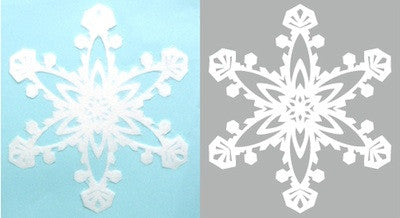 "Handcraft Paper SNOWFLAKE  ""JOY"" L size (5 Left)"
