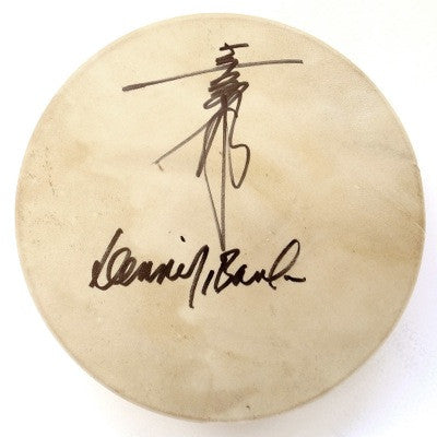 [LIMITED] Hand Drum Taiko Autographed Kitaro & Dennis Banks with Let Mother Earth Speak CD Set (45)