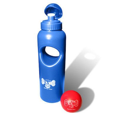 Olate Dogs Water Bottle with Retrievable Balls