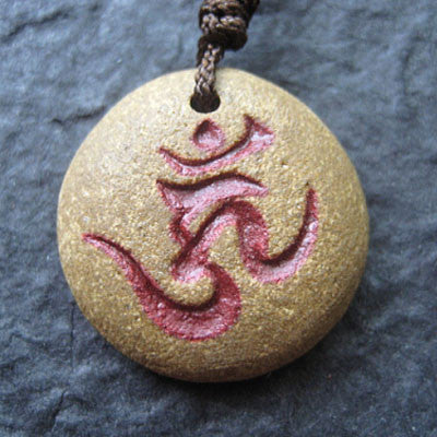 "Handcraft Bonji Pendant Necklace ""AIZEN MYO""(Ragaraja)"