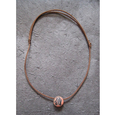 "Handcraft Kanji Pendant Necklace ""SAMURAI"""