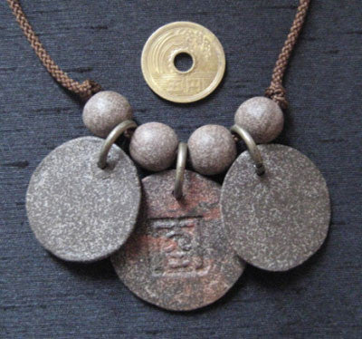 Handcraft Kanji & Bonji Pendant Necklace DOUBLE DRAGON
