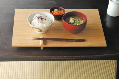 "TEORI Brand Bamboo Tray with Chopstick Rest ""+(PLUS)"""