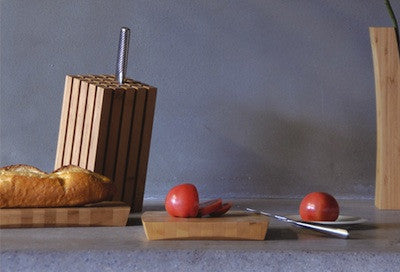 "TEORI Brand Knife Block ""SPLIT"" Slant Pattern"