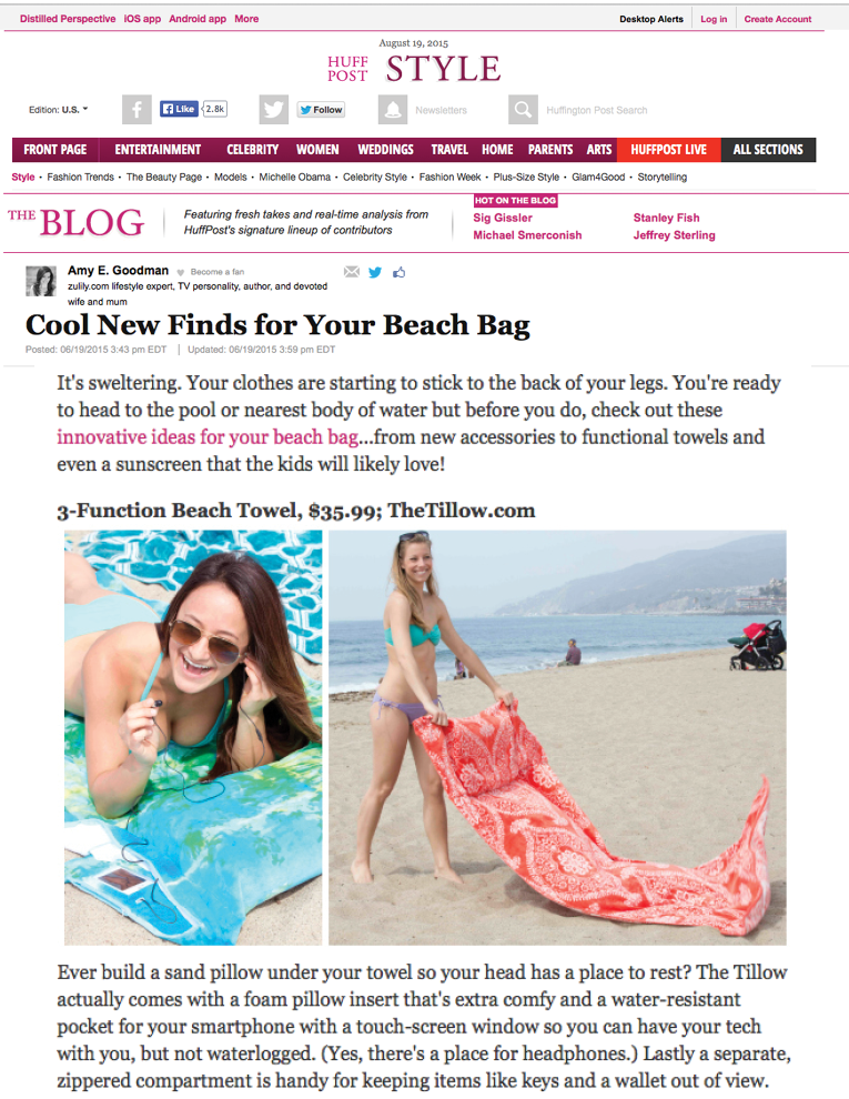 Huffington Post Style - Cool New Finds for Your Beach Bag