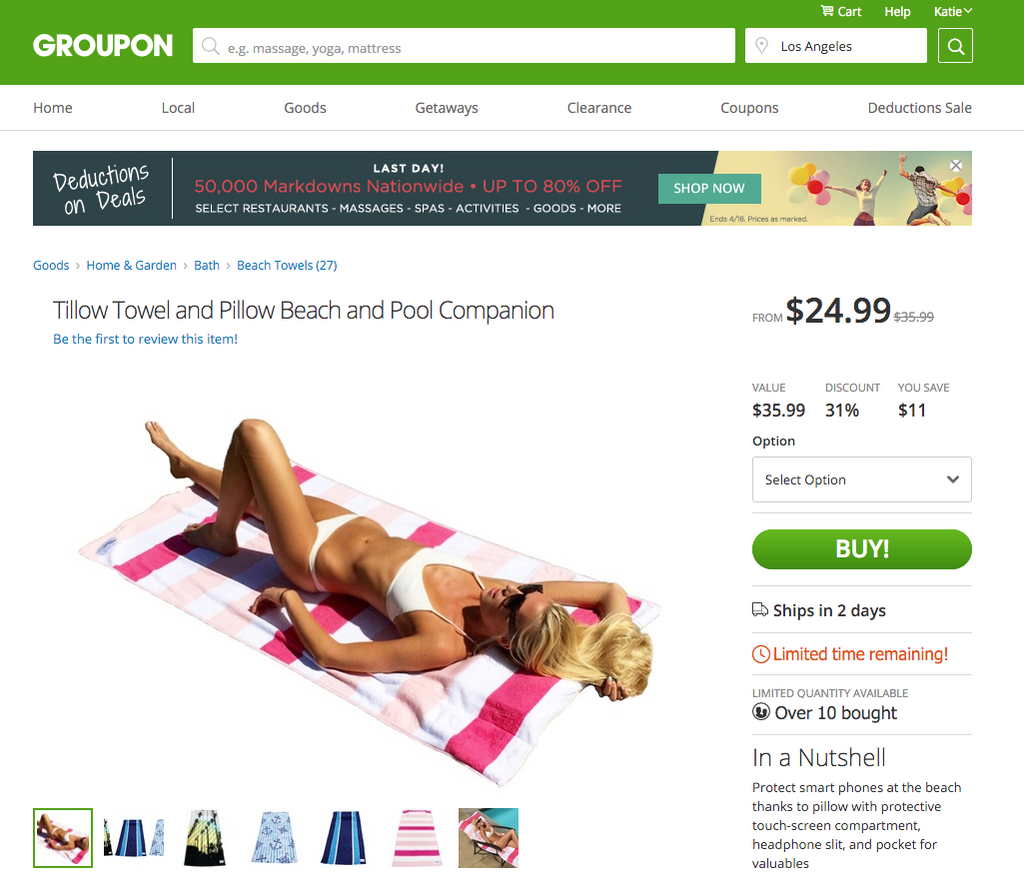 Groupon - Tillow for $24.99