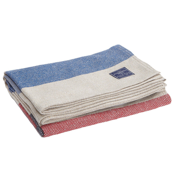 Recycled Cotton Throw Chambray/Currant