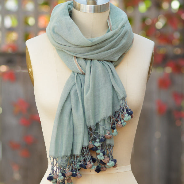 Handloomed Silk Cotton Scarf