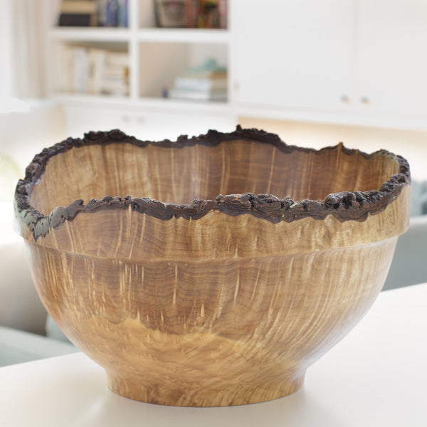 Hand-turned Large Natural Edge Bowl