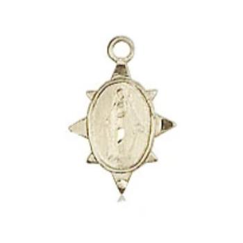 Miraculous Medal - 14K Gold Filled - 3/8 Inch Tall by 1/4 Inch Wide