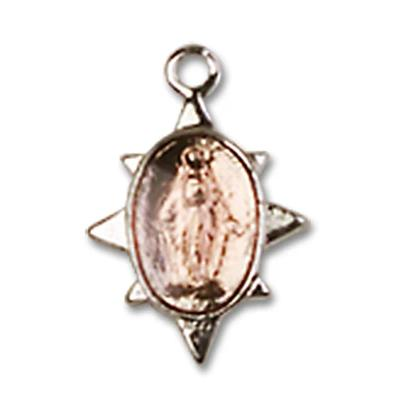 Miraculous Medal - Sterling Silver - 3/8 Inch Tall by 1/4 Inch Wide
