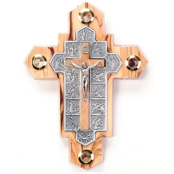 14 Stations Holy Land Crucifix