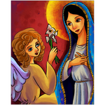 The Annunciation Catholic Folk Art Print