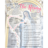 """How To Pray The Rosary"" Wall Art Print"