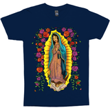 Our Lady Of Guadalupe With Roses Christian Catholic Graphic Tee
