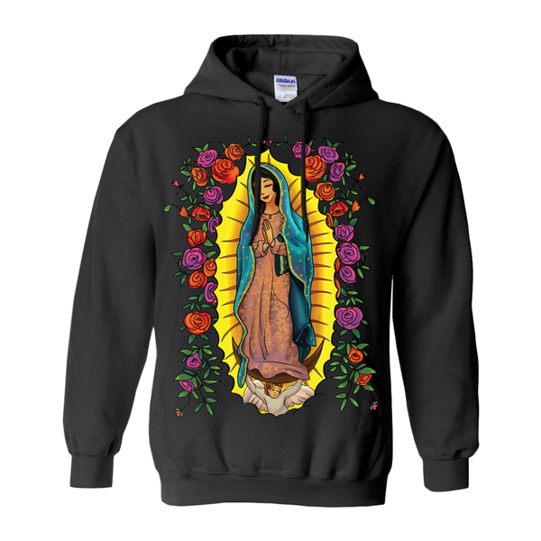 Our Lady Of Guadalupe With Roses Graphic Hoodie