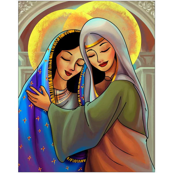 The Visitation Catholic Folk Art Print
